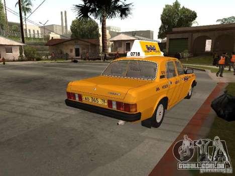 Volga GAZ 31029 Taxi para GTA San Andreas esquerda vista