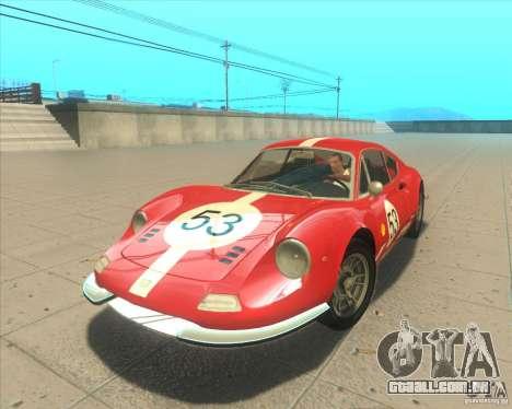 Ferrari Dino 246 GT para GTA San Andreas vista traseira