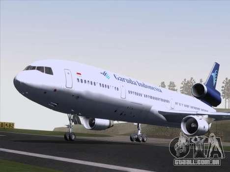 McDonnell Douglas MD-11 Garuda Indonesia para GTA San Andreas vista interior