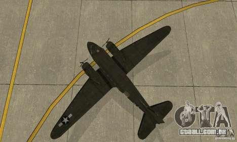 C-47 Skytrain para GTA San Andreas vista traseira