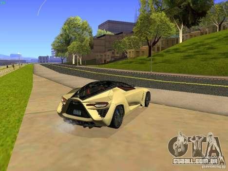 Bertone Mantide para GTA San Andreas traseira esquerda vista