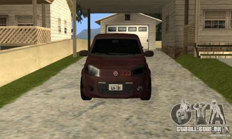 Fiat Novo Uno Sporting para GTA San Andreas esquerda vista