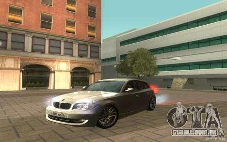BMW 120i para GTA San Andreas vista direita