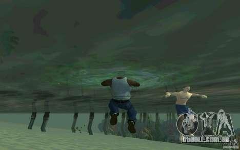 As pessoas são capazes de nadar para GTA San Andreas quinto tela