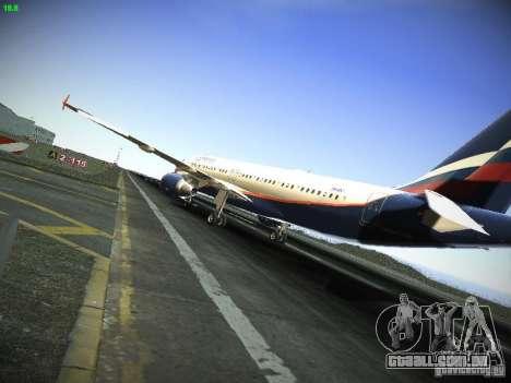 Aeroflot Russian Airlines Airbus A320 para GTA San Andreas traseira esquerda vista