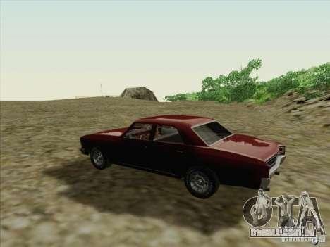 Chevrolet Chevelle para GTA San Andreas vista direita
