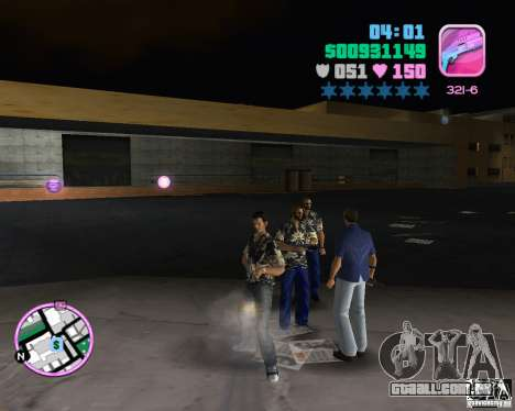 Desgaste Vercetti Gang para GTA Vice City por diante tela