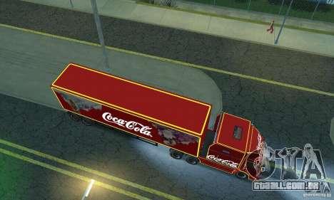 KAMAZ 54112 Natal para GTA San Andreas traseira esquerda vista