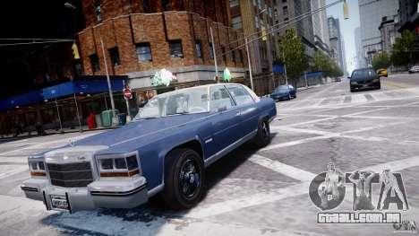 Cadillac Fleetwood Brougham 1985 para GTA 4 vista de volta