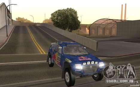 Volkswagen Race Touareg para GTA San Andreas vista traseira