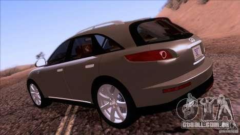 Infiniti FX45 2007 para GTA San Andreas vista direita
