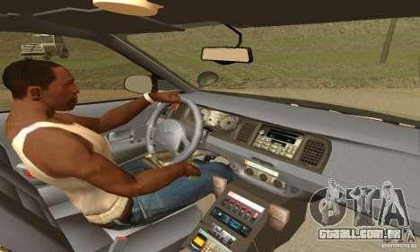 Ford Crown Victoria New Corolina Police para GTA San Andreas traseira esquerda vista