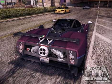 Pagani Zonda Tricolore 2010 para GTA San Andreas vista traseira
