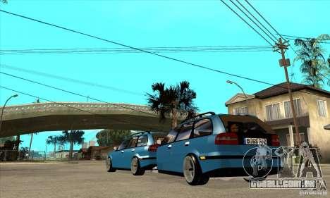 Trailer para o Volvo V40 para GTA San Andreas traseira esquerda vista