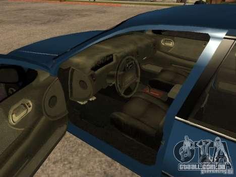 HD Kuruma para GTA San Andreas traseira esquerda vista