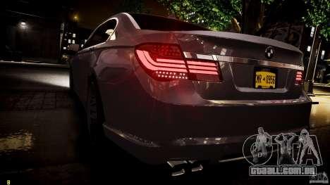 BMW 750Li Sedan ASANTI para GTA 4 interior