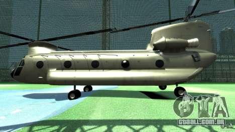 CH-47 para GTA 4 traseira esquerda vista