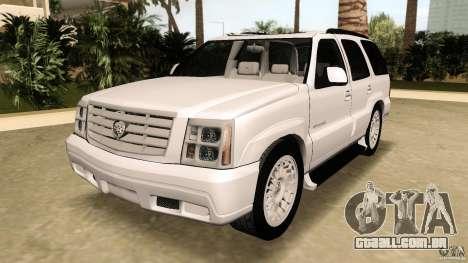 Cadillac Escalade para GTA Vice City vista traseira