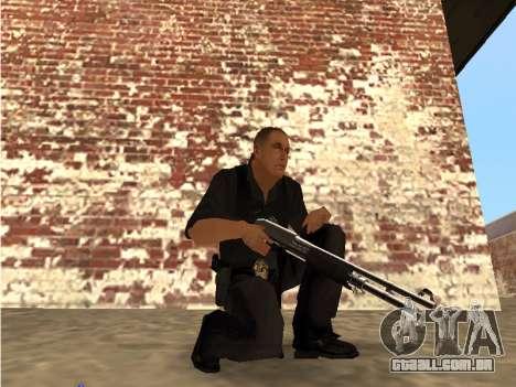 Chrome and Blue Weapons Pack para GTA San Andreas segunda tela