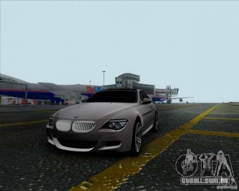BMW 6 Series M para GTA San Andreas esquerda vista