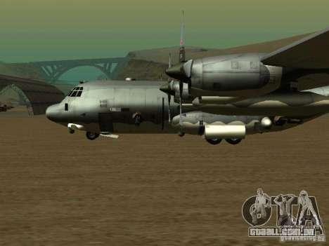 AC-130 Spooky II para GTA San Andreas traseira esquerda vista