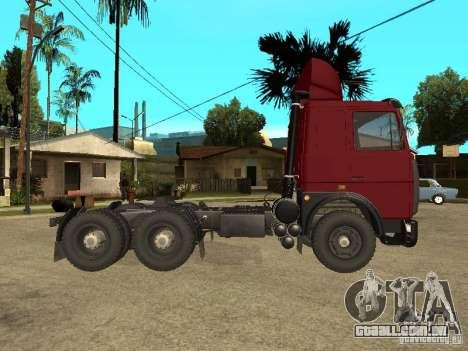 MAZ 642208 para GTA San Andreas traseira esquerda vista