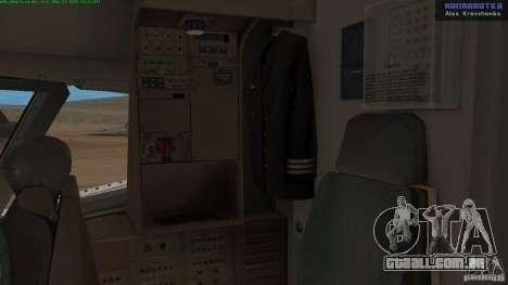 Boeing 757-200 Final Version para GTA San Andreas vista interior