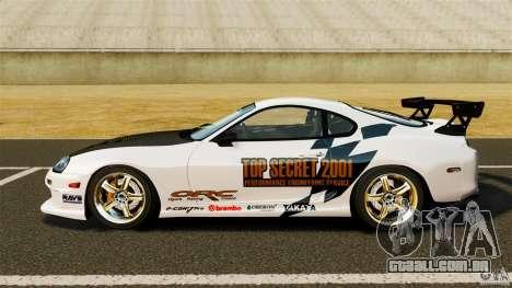 Toyota Supra Top Secret para GTA 4 esquerda vista