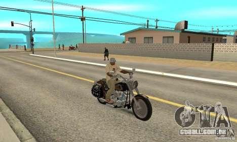 Harley Davidson FLSTF (Fat Boy) v2.0 Skin 5 para GTA San Andreas vista direita