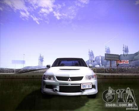 Mitsubishi Lancer Evolution VIII MR para GTA San Andreas vista traseira
