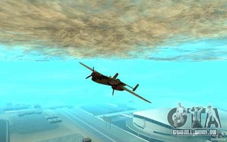 B-25 Mitchell para GTA San Andreas esquerda vista