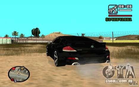 BMW M6 2006 para GTA San Andreas vista direita