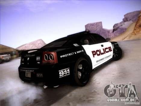 Dodge Charger RT Police Speed Enforcement para GTA San Andreas traseira esquerda vista