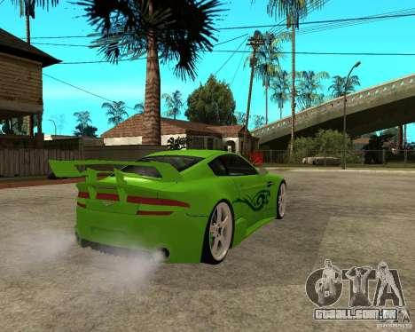 Aston Martin Vantage V8 - Green SHARK TUNING! para GTA San Andreas traseira esquerda vista