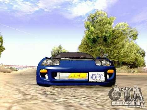 Toyota Supra Drift Edition para GTA San Andreas vista interior