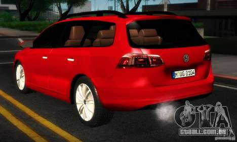 Volkswagen Passat B7 2012 para GTA San Andreas vista direita