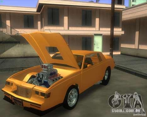 Buick GNX pro stock para GTA San Andreas traseira esquerda vista