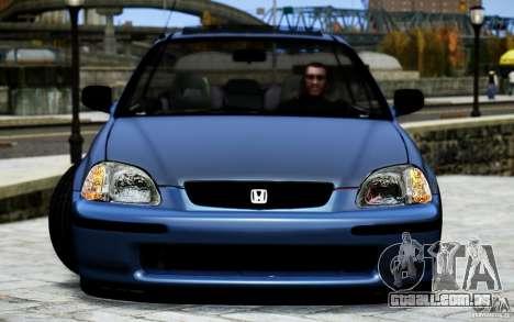 Honda Civic Vti para GTA 4 vista interior