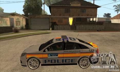 Opel Vectra 2009 Metropolitan Police para GTA San Andreas esquerda vista