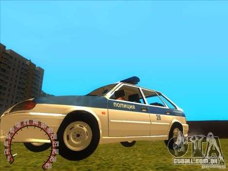 Ваз 2114 polícia russa para GTA San Andreas esquerda vista