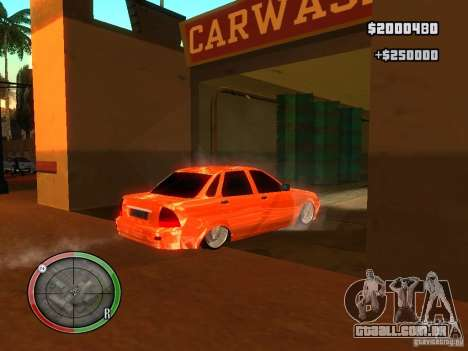 Lada Priora Dag Style para GTA San Andreas vista interior