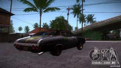 Chevrolet Chevelle SS DC para GTA San Andreas vista direita