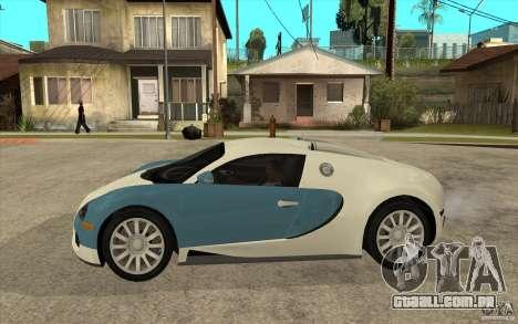 Bugatti Veyron Final para GTA San Andreas esquerda vista