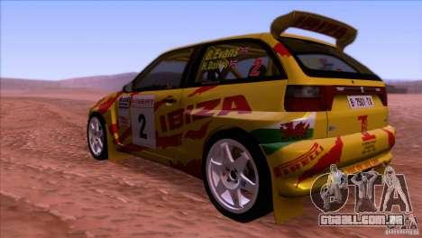 Seat Ibiza Rally para GTA San Andreas vista traseira