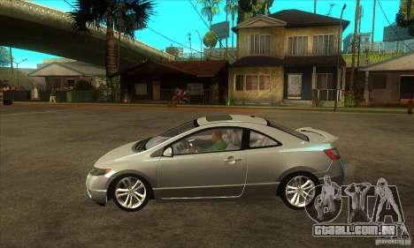 Honda Civic Si - Stock para GTA San Andreas esquerda vista