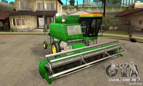 Combine Harvester Retextured para GTA San Andreas vista traseira