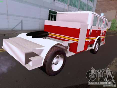 Seagrave Tiller Truck para vista lateral GTA San Andreas