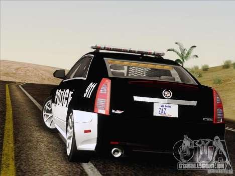 Cadillac CTS-V Police Car para GTA San Andreas vista interior