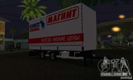 Trailer de Scania R620 para GTA San Andreas traseira esquerda vista