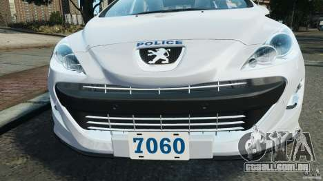 Peugeot 308 GTi 2011 Police v1.1 para GTA 4 motor